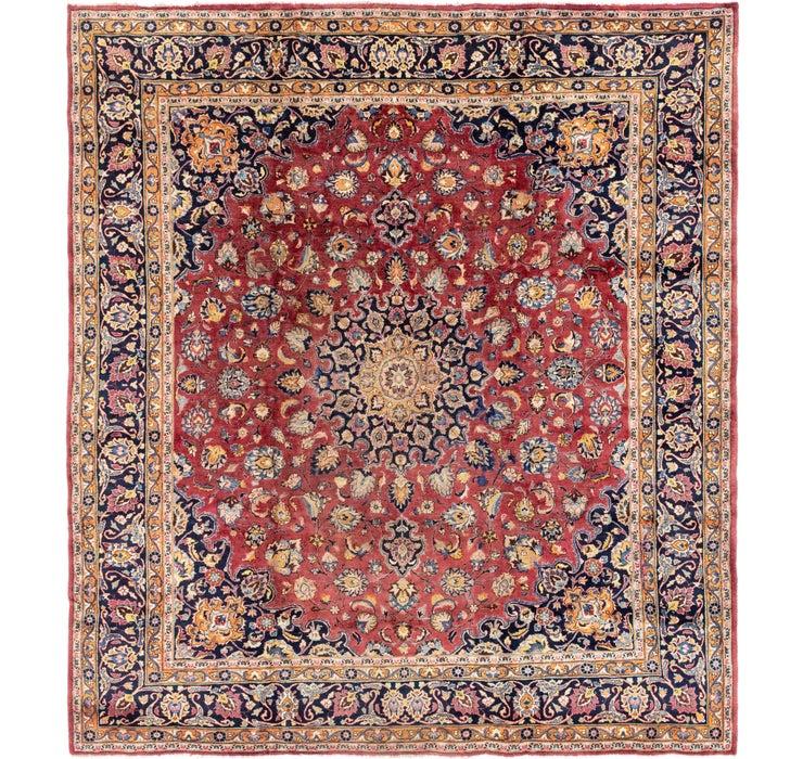 10' x 11' Mashad Persian Square Rug