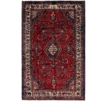 Image of 7' x 11' Hamedan Persian Rug
