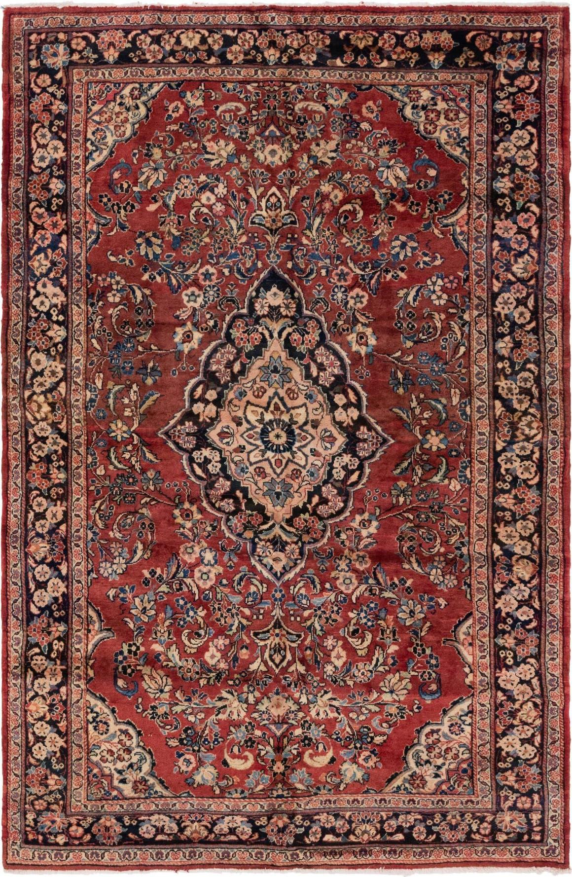 6' 6 x 10' Meshkabad Persian Rug main image
