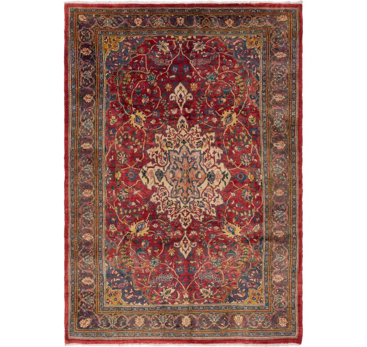 7' 3 x 10' 4 Sarough Persian Rug