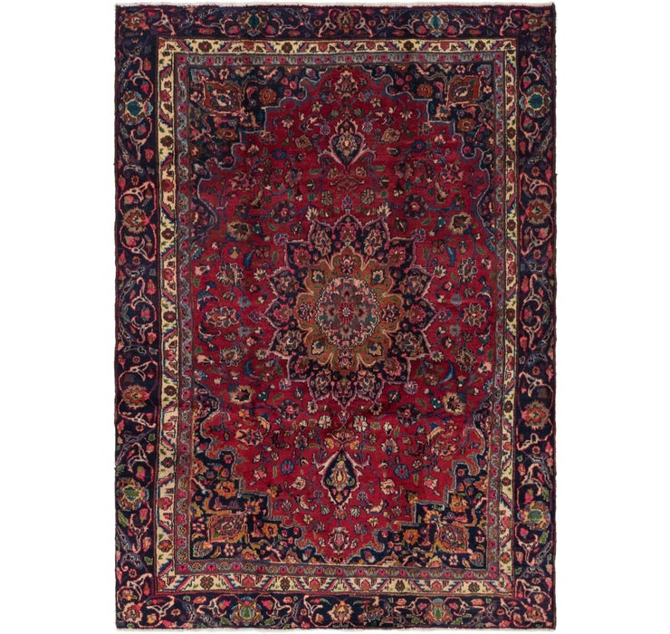 5' 9 x 8' 3 Mashad Persian Rug