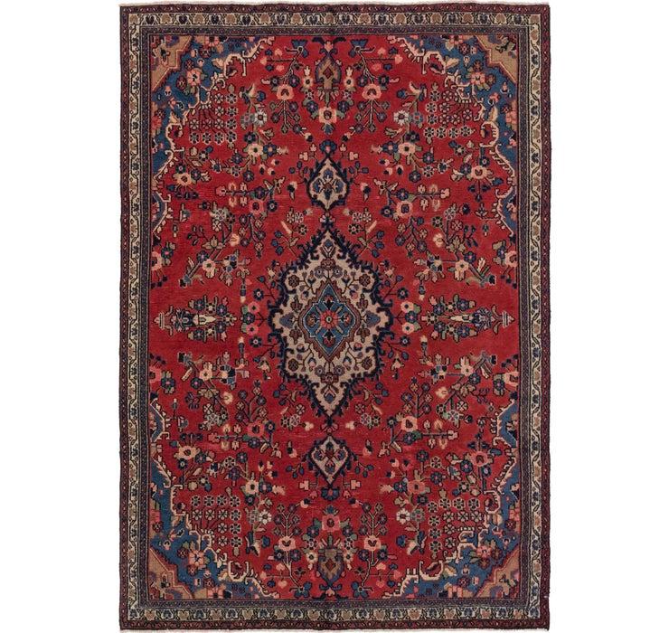 208cm x 305cm Hamedan Persian Rug