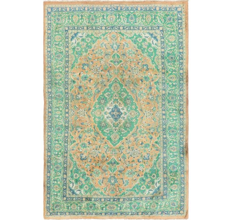 6' x 9' 7 Mashad Persian Rug