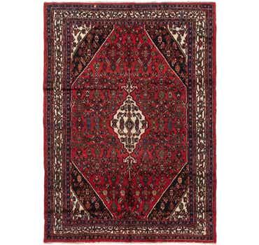 Image of 7' x 10' Hamedan Persian Rug