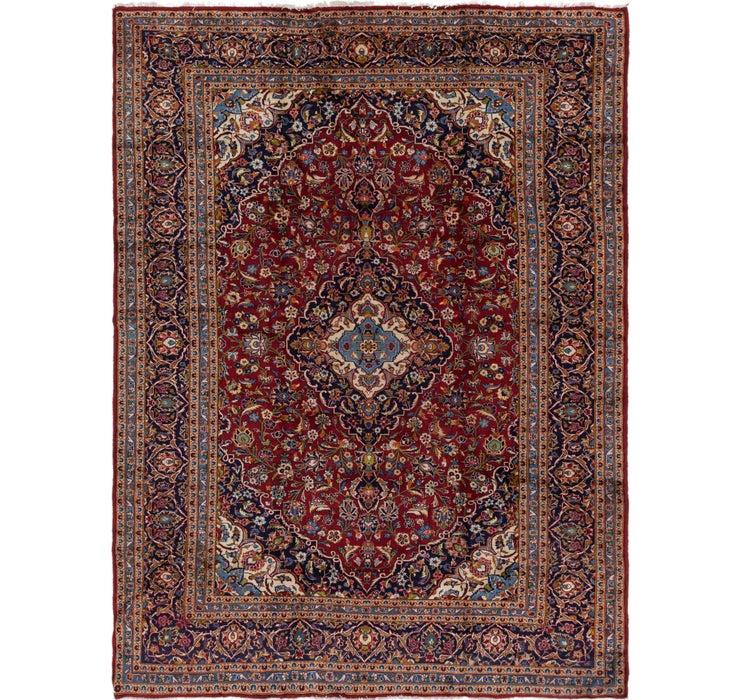 9' 8 x 13' Kashan Persian Rug