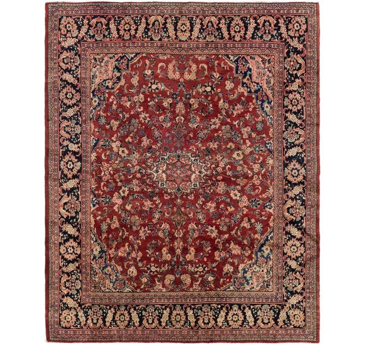 305cm x 365cm Meshkabad Persian Rug
