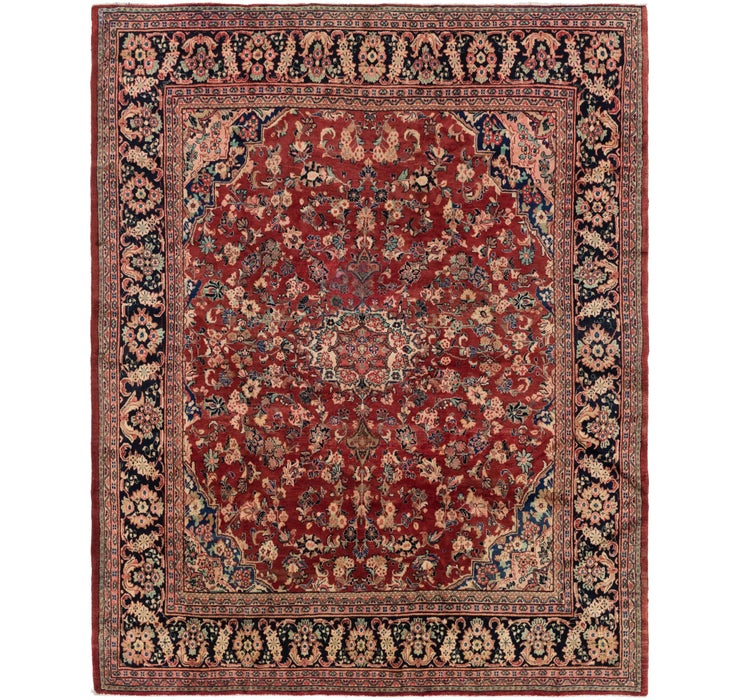 Image of 305cm x 365cm Meshkabad Persian Rug