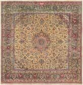 290cm x 305cm Mashad Persian Square Rug thumbnail