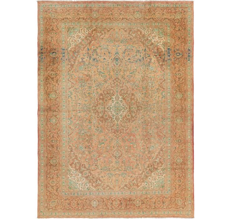 9' 6 x 13' 3 Kashan Persian Rug