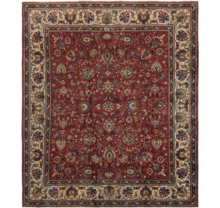 335cm x 390cm Tabriz Persian Square Rug