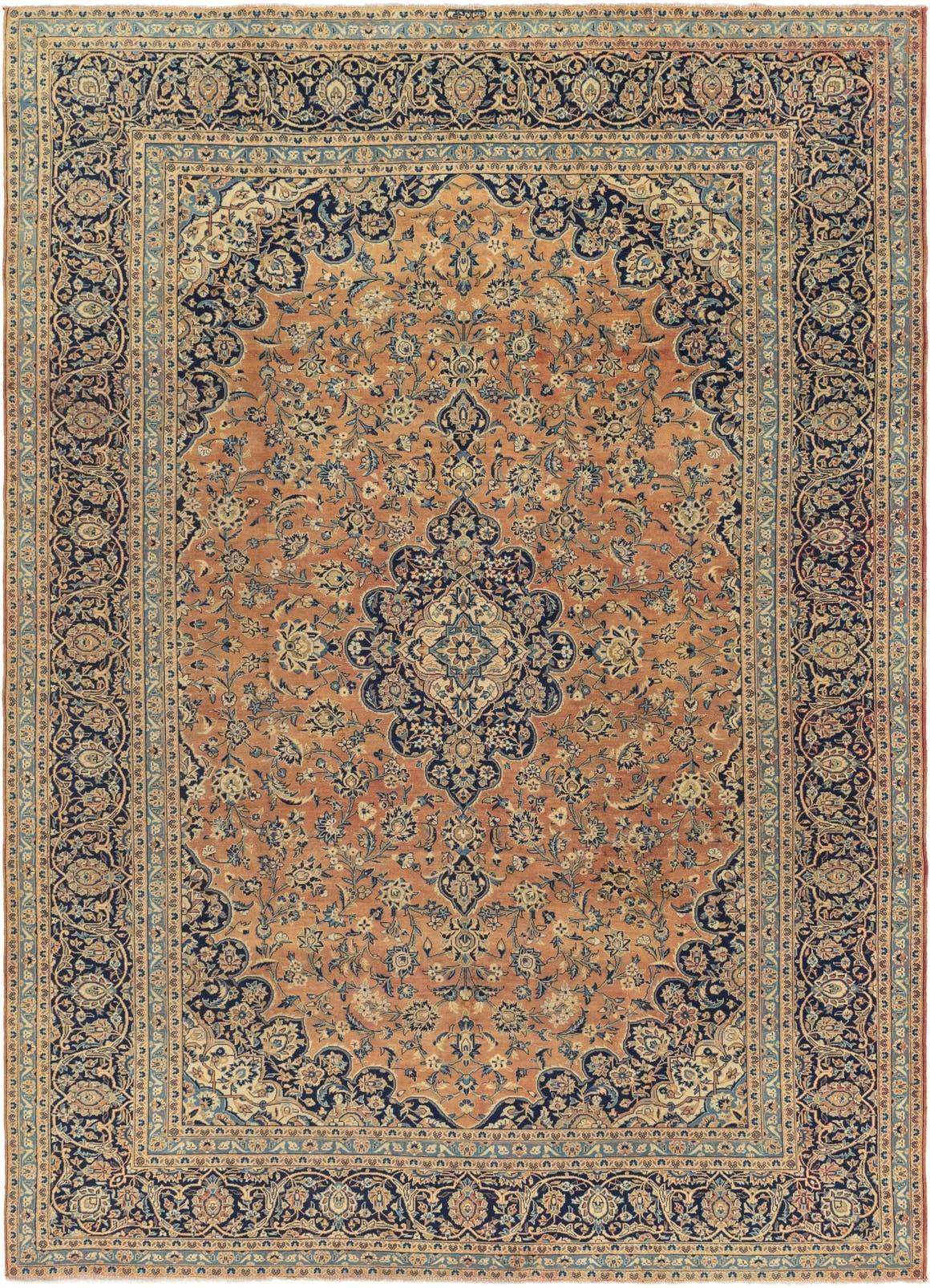 9' x 12' 6 Kashan Persian Rug main image