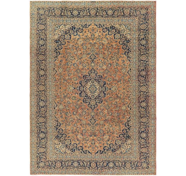 Image of 9' x 12' 6 Kashan Persian Rug