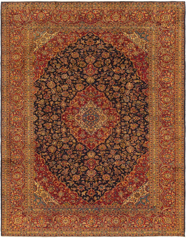10' 2 x 13' Kashan Persian Rug main image