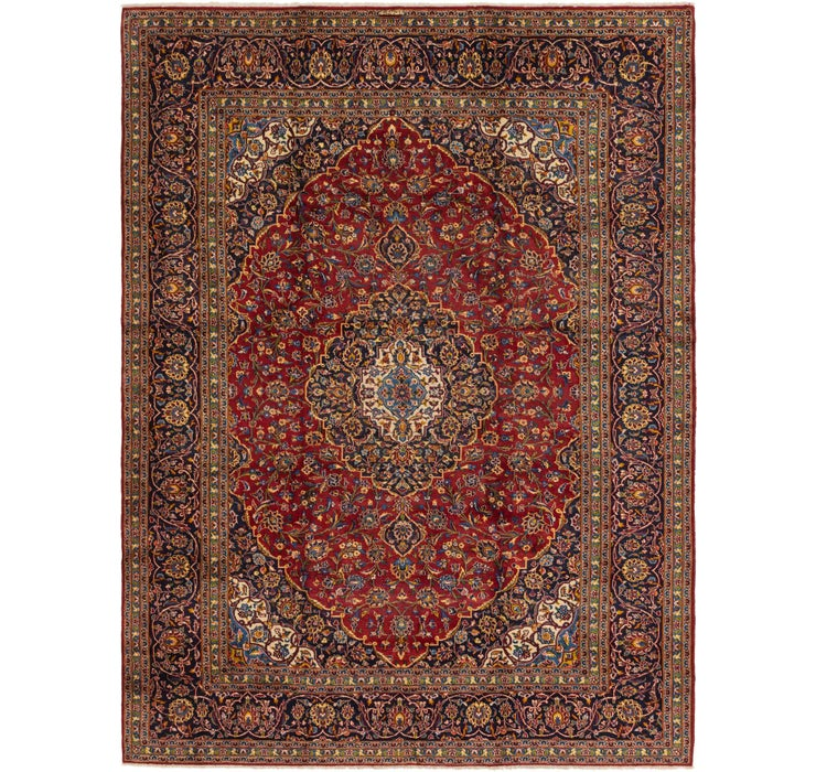 275cm x 338cm Kashan Persian Rug