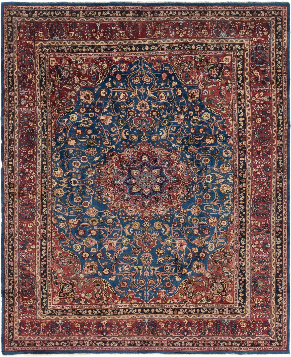 9' 4 x 12' Mashad Persian Rug main image