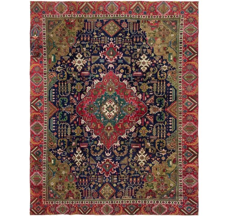 Image of 9' 5 x 12' 2 Tabriz Persian Rug