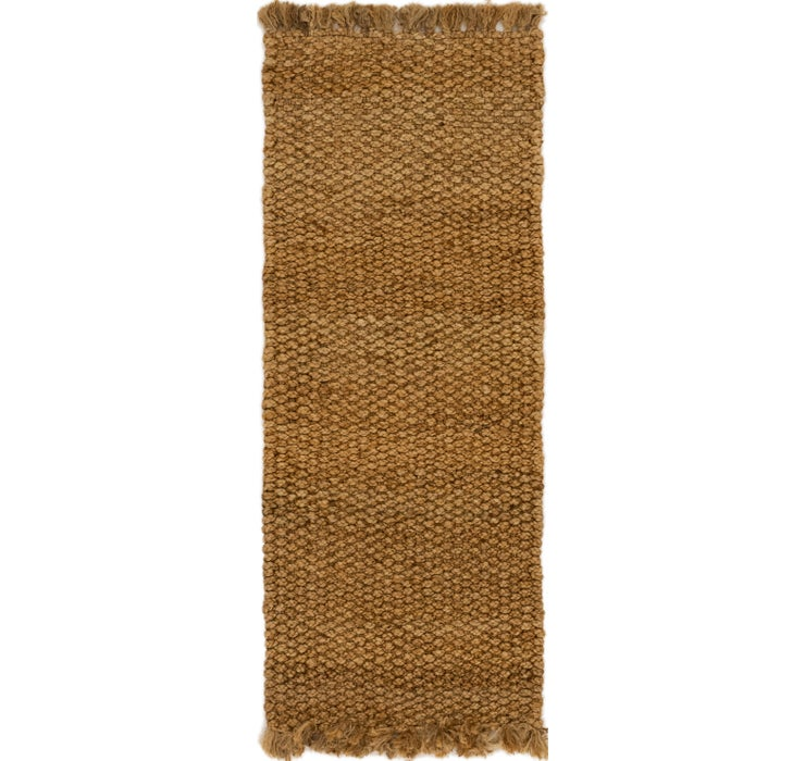 90cm x 245cm Braided Jute Runner Rug