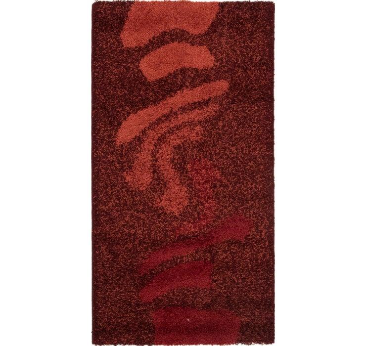 2' 8 x 4' 10 Textured Shag Rug