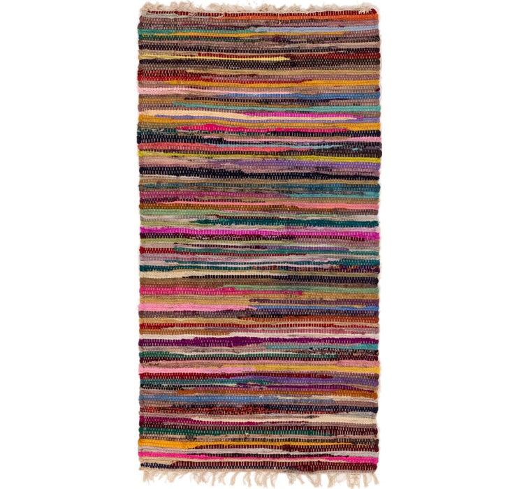 70cm x 140cm Chindi Cotton Rug
