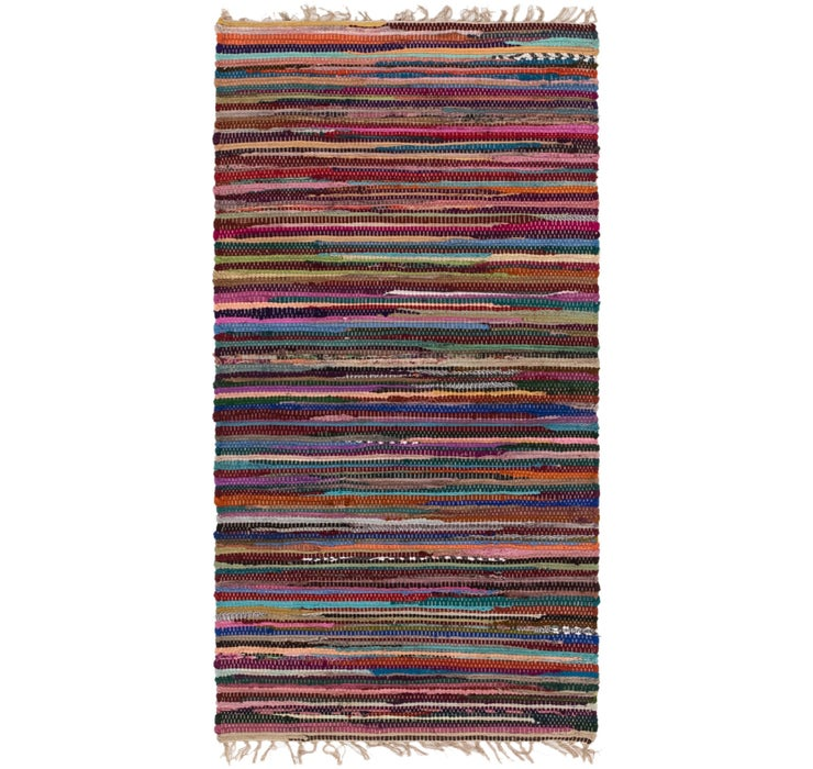 70cm x 145cm Chindi Cotton Rug
