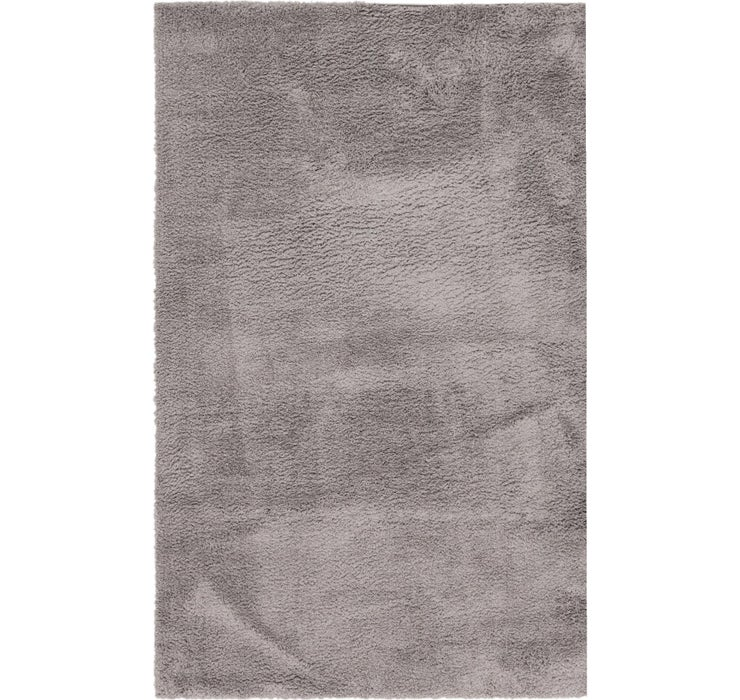 5' 2 x 8' Luxe Solid Shag Rug