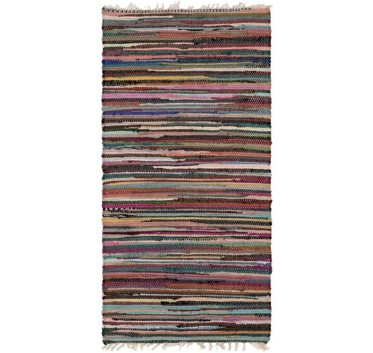 70cm x 142cm Chindi Cotton Rug