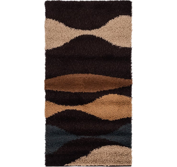 2' 7 x 5' Multi-Tone Shag Rug