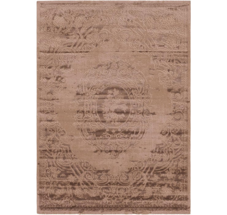 Image of 5' 3 x 7' 6 Carved Aubusson Rug