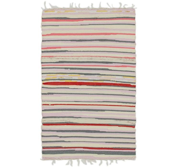 70cm x 117cm Chindi Cotton Rug