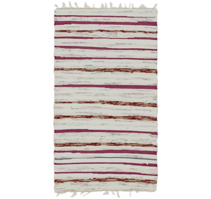 70cm x 130cm Chindi Cotton Rug