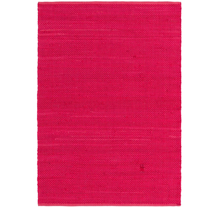Image of 4' x 5' 8 Chindi Cotton Rug