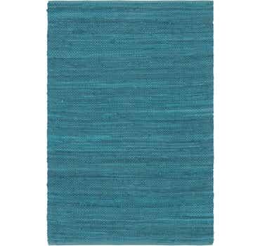 Image of 4' x 5' 10 Chindi Cotton Rug