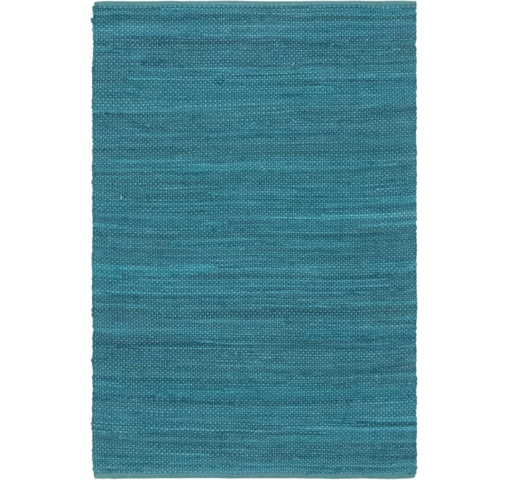 Image of 4' x 5' 10 Chindi Cotton Rug