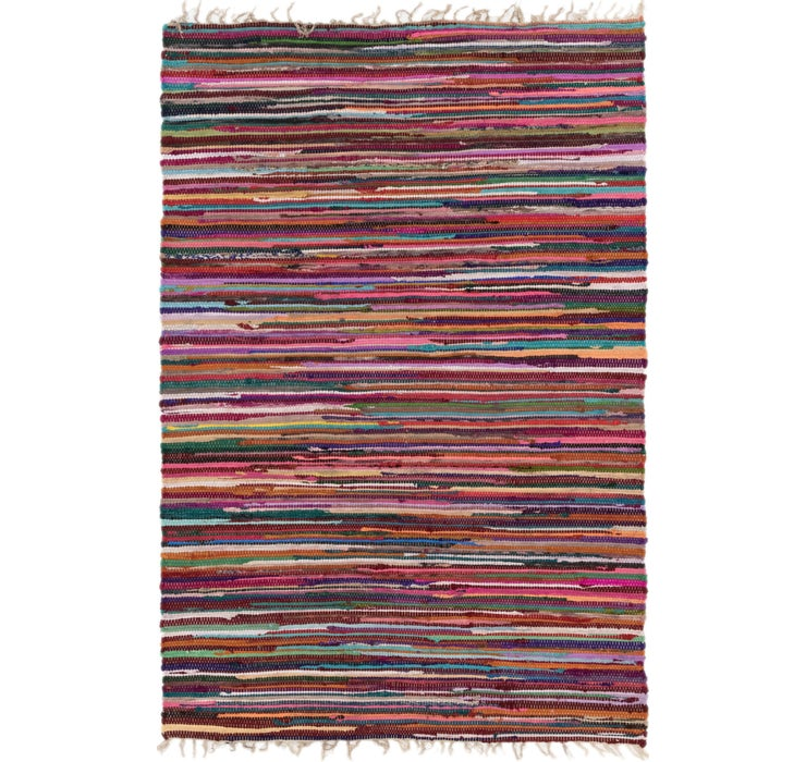 4' 7 x 6' 10 Chindi Cotton Rug
