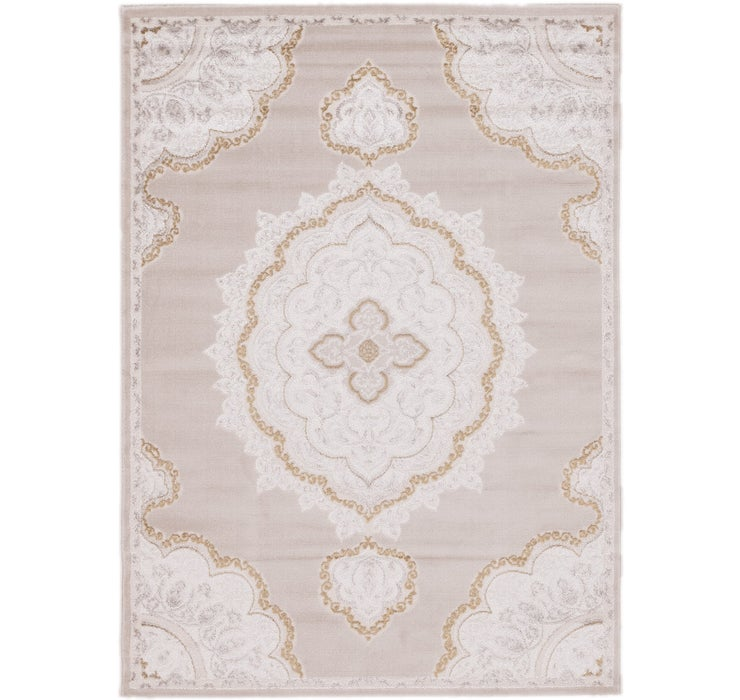 160cm x 220cm Carved Aubusson Rug
