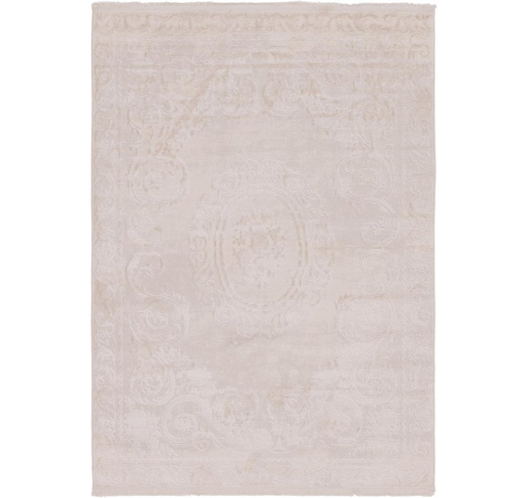 163cm x 235cm Carved Aubusson Rug