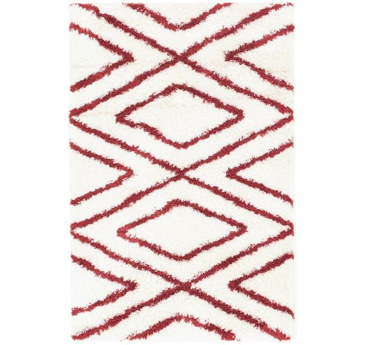 2' 8 x 4' Luxe Trellis Shag Rug