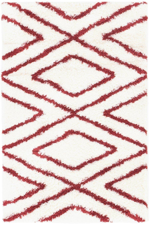2' 8 x 4' Luxe Trellis Shag Rug main image