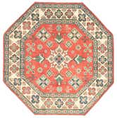 5' x 5' Kazak Octagon Rug thumbnail