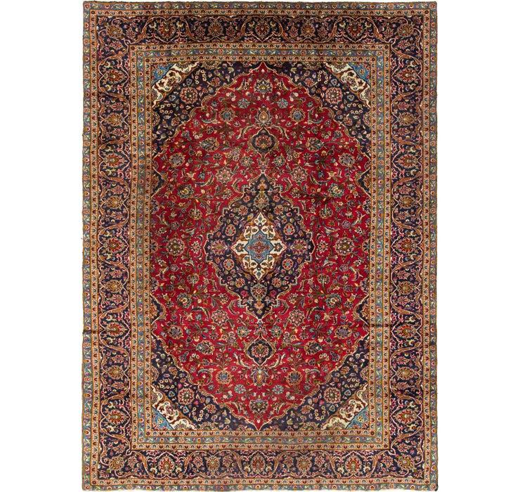 9' 1 x 12' 9 Kashan Persian Rug
