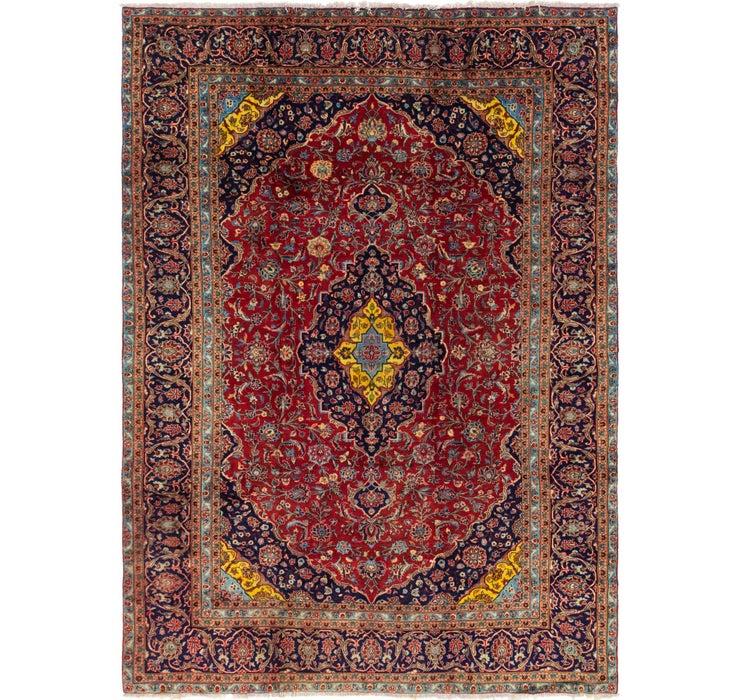 9' x 12' 7 Kashan Persian Rug