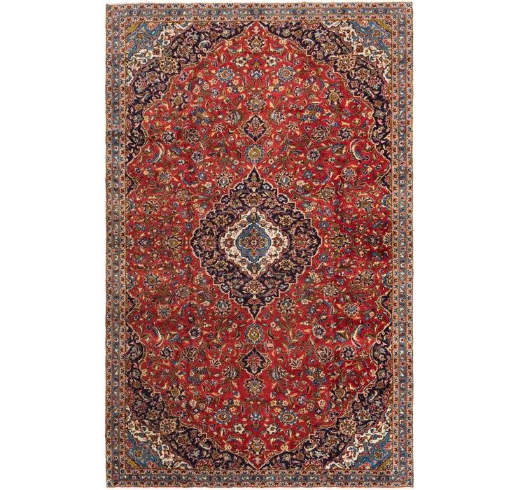 7' x 11' 3 Kashan Persian Rug