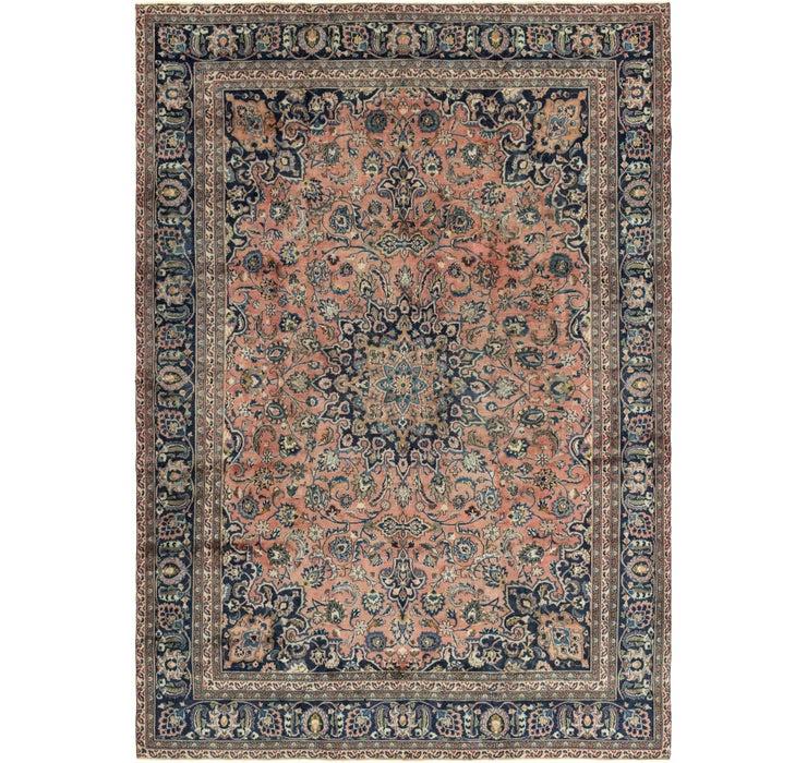277cm x 395cm Mashad Persian Rug