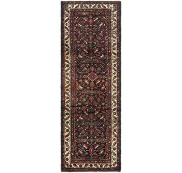 3' 4 x 9' 10 Hossainabad Persian Runner Rug main image