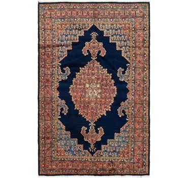 6' 4 x 10' Golpayegan Persian Rug