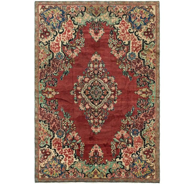 7' 4 x 10' 8 Meshkabad Persian Rug