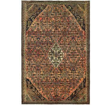 Image of 6' 7 x 10' 4 Hamedan Persian Rug