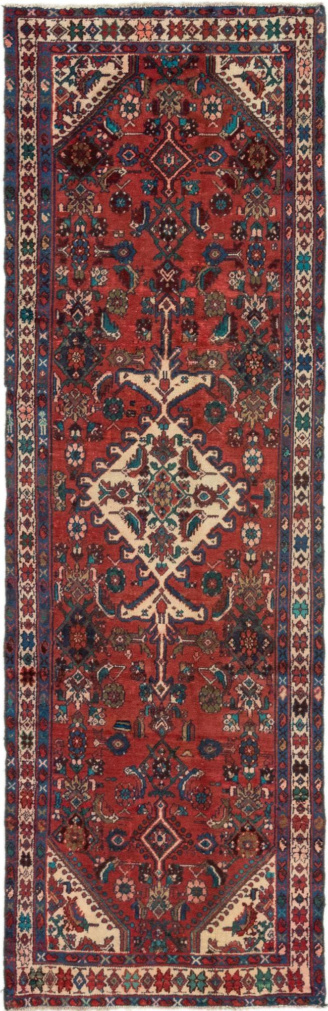 3' 2 x 10' 4 Hamedan Persian Runner Rug main image