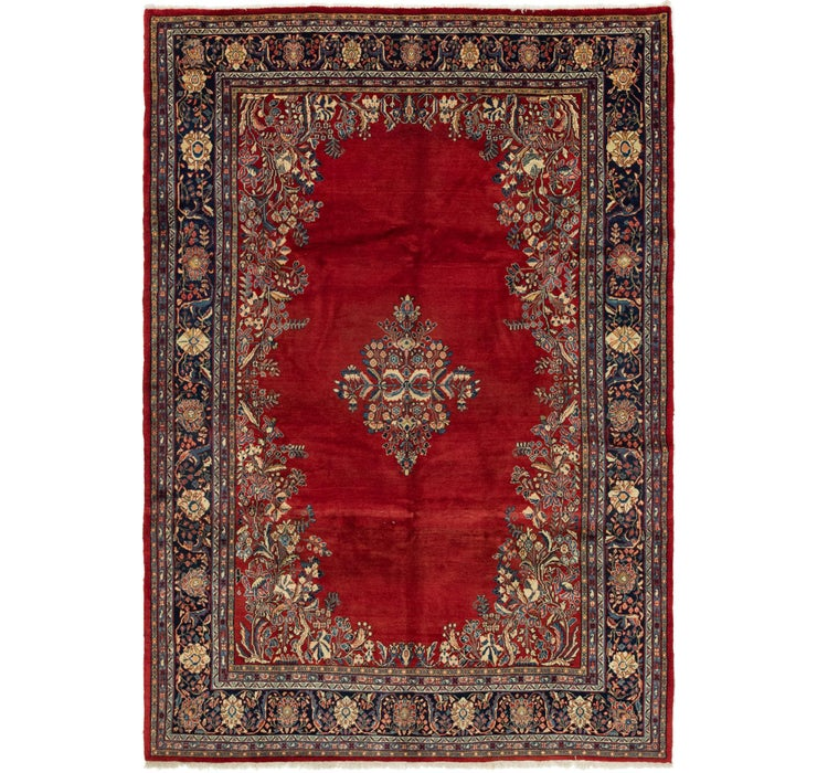 7' 1 x 10' 4 Sarough Persian Rug