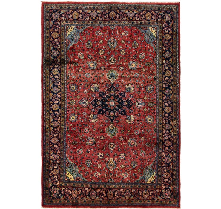 7' x 10' 5 Sarough Persian Rug